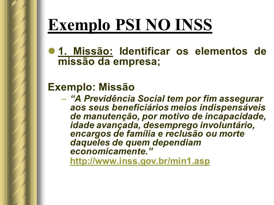 Exemplo PSI NO INSS 1.