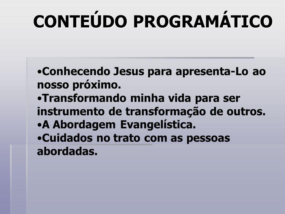 CONHECENDO JESUS PARA APRESENTÁ-LO AO NOSSO PRÓXIMO Alvo Quem é Jesus.