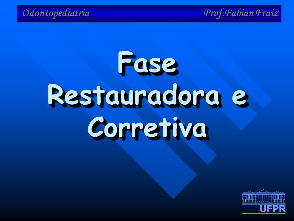 Odontopediatria Prof.Fabian Fraiz Fase Restauradora e Corretiva