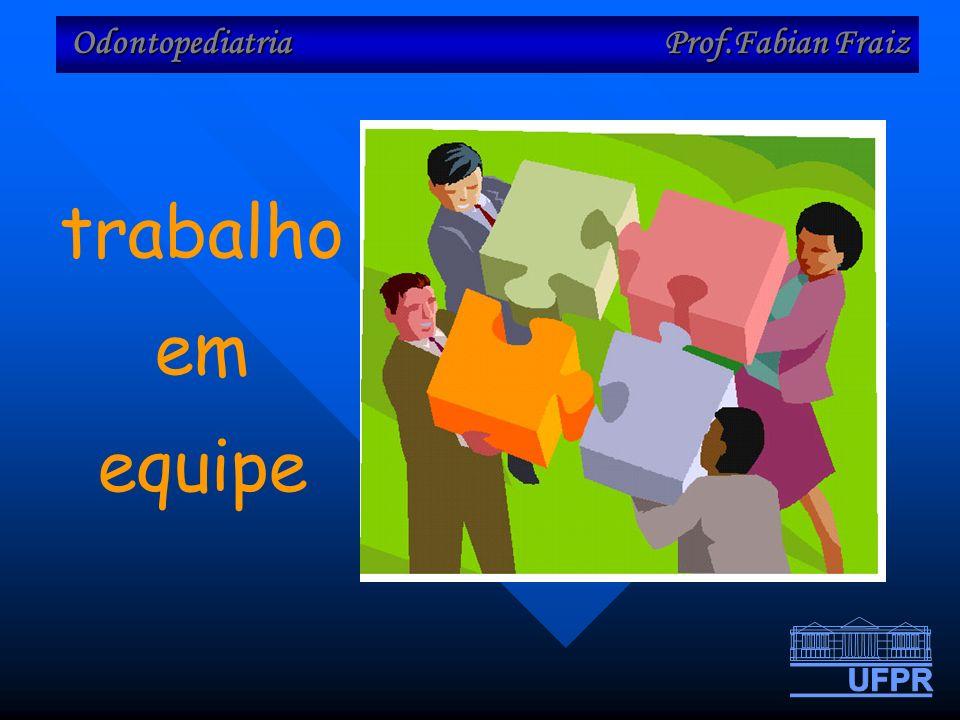 Odontopediatria Prof.Fabian Fraiz trabalho em equipe