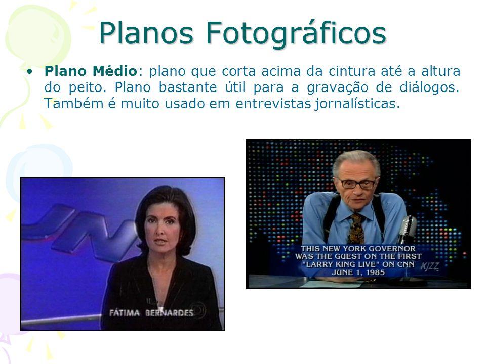 Planos Fotográficos Primeiro Plano ou Close-up: mostra apenas os ombros e a cabeça da pessoa.