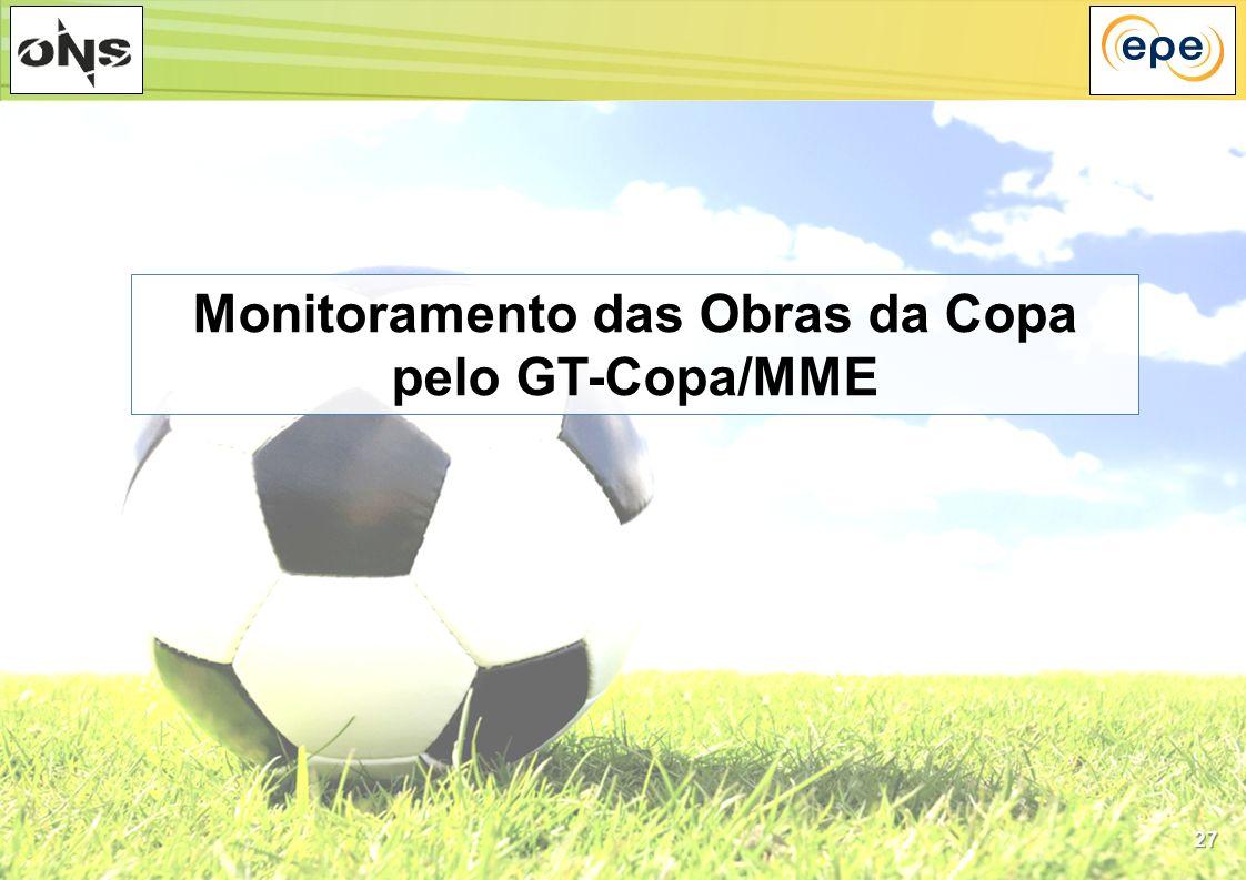 27 Monitoramento das Obras da Copa pelo GT-Copa/MME
