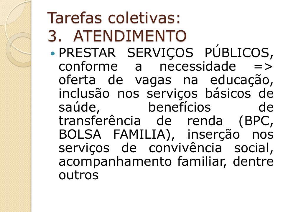 Tarefas coletivas: 3.
