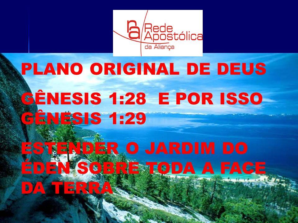 PLANO ORIGINAL DE DEUS GÊNESIS 1:28 E POR ISSO GÊNESIS 1:29 ESTENDER O JARDIM DO ÉDEN SOBRE TODA A FACE DA TERRA