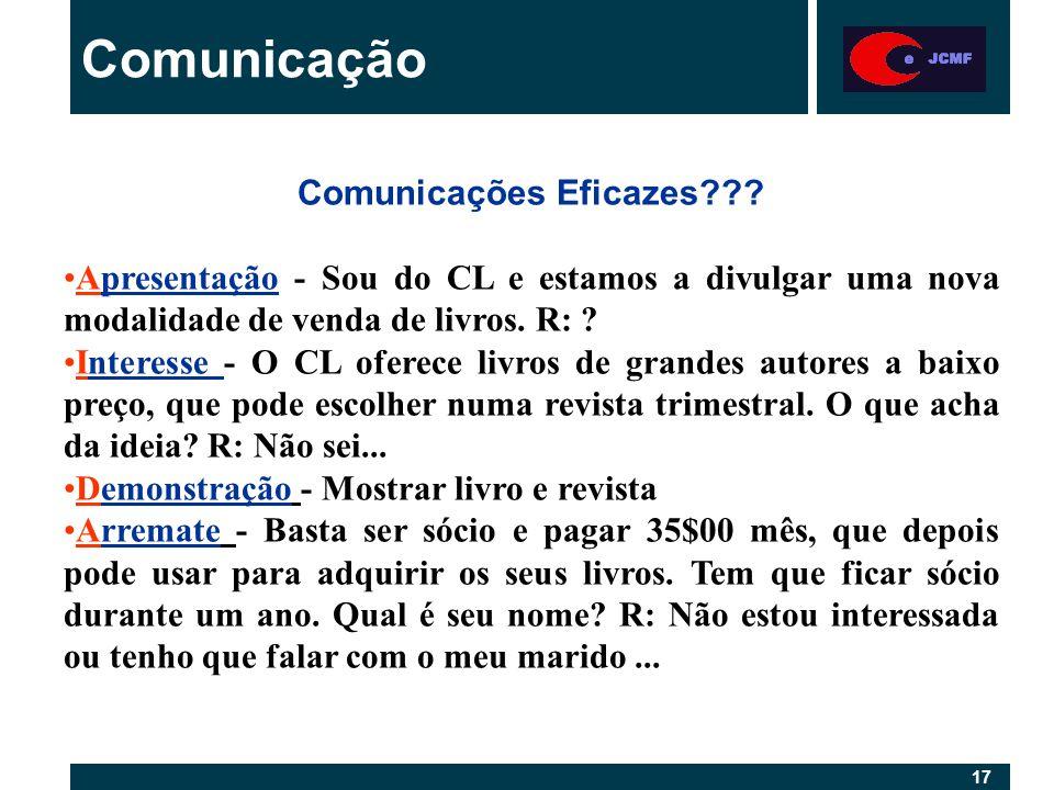 17 Comunicação Comunicações Eficazes .