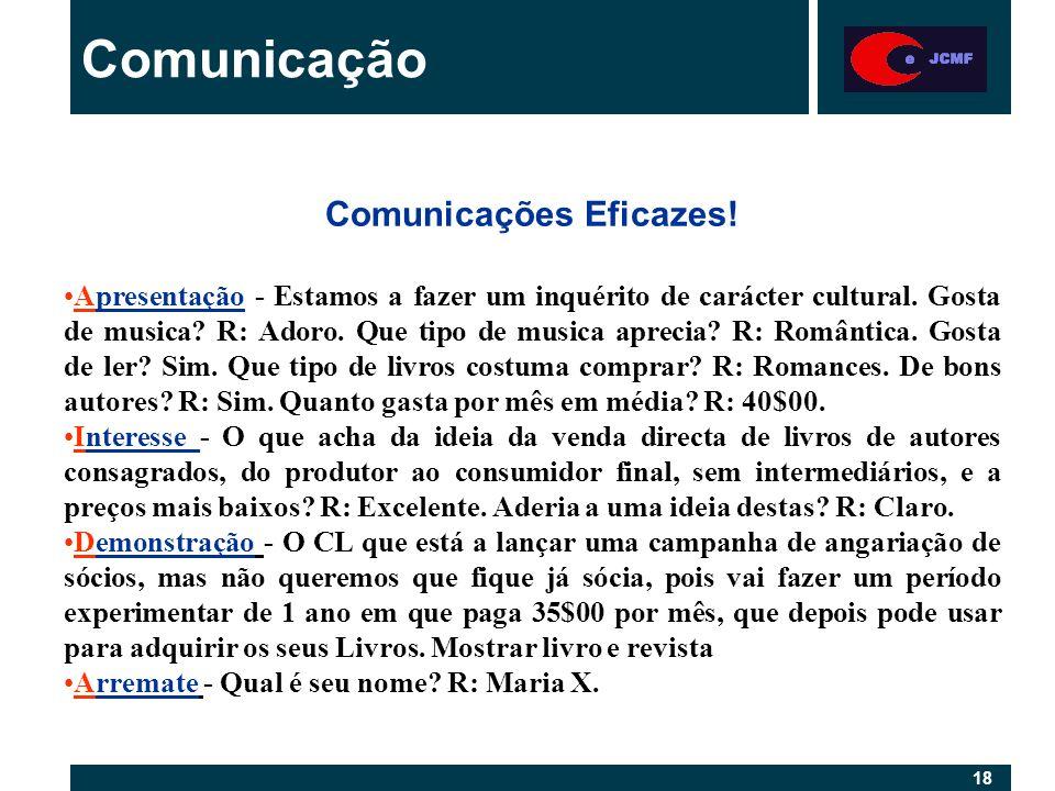 18 Comunicação Comunicações Eficazes.