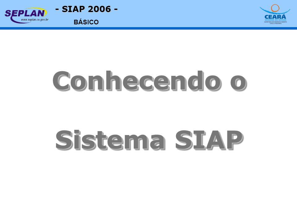 - SIAP 2006 - BÁSICO Conhecendo o Sistema SIAP