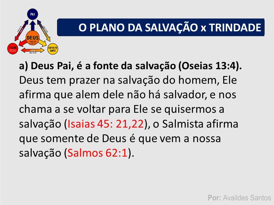 a) Deus Pai, é a fonte da salvação (Oseias 13:4).