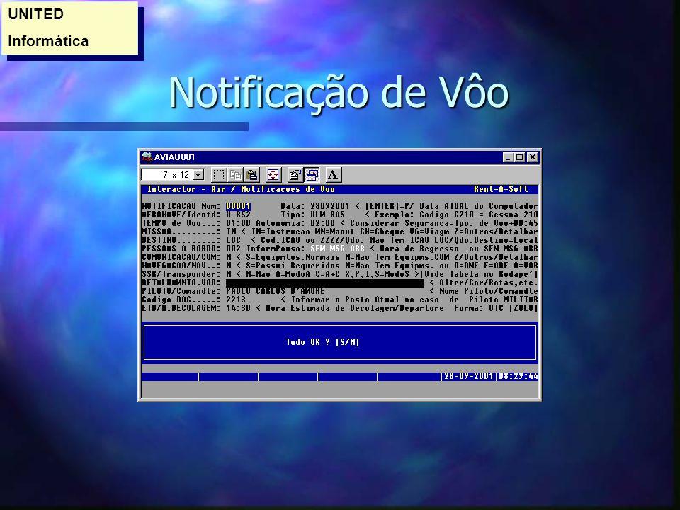 Notificação de Vôo Notificação de Vôo UNITED Informática UNITED Informática