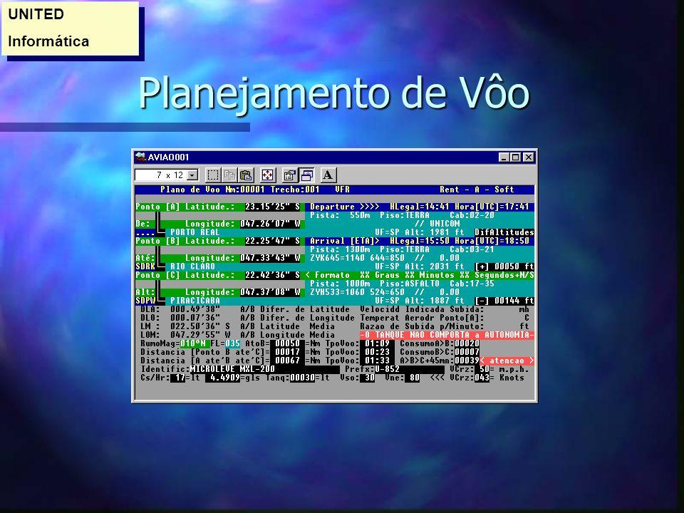 Planejamento de Vôo Planejamento de Vôo UNITED Informática UNITED Informática