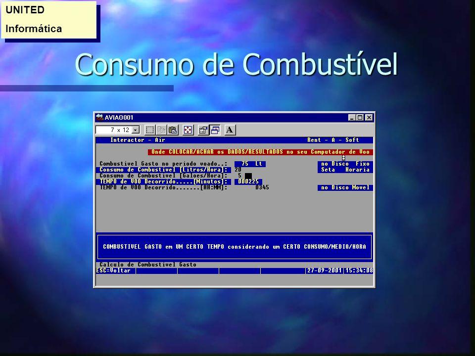 Consumo de Combustível Consumo de Combustível UNITED Informática UNITED Informática