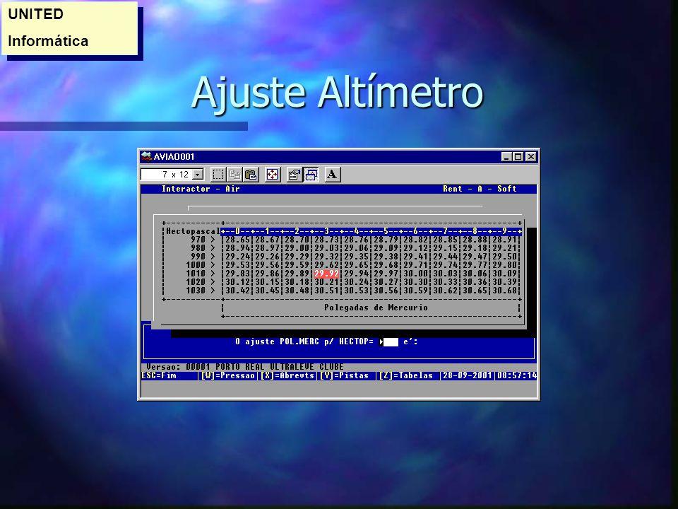 Ajuste Altímetro Ajuste Altímetro UNITED Informática UNITED Informática