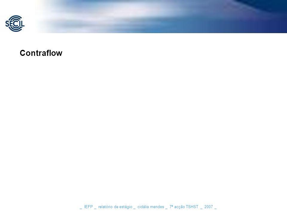 _ IEFP _ relatório de estágio _ cidália mendes _ 7ª acção TSHST _ 2007 _ Contraflow