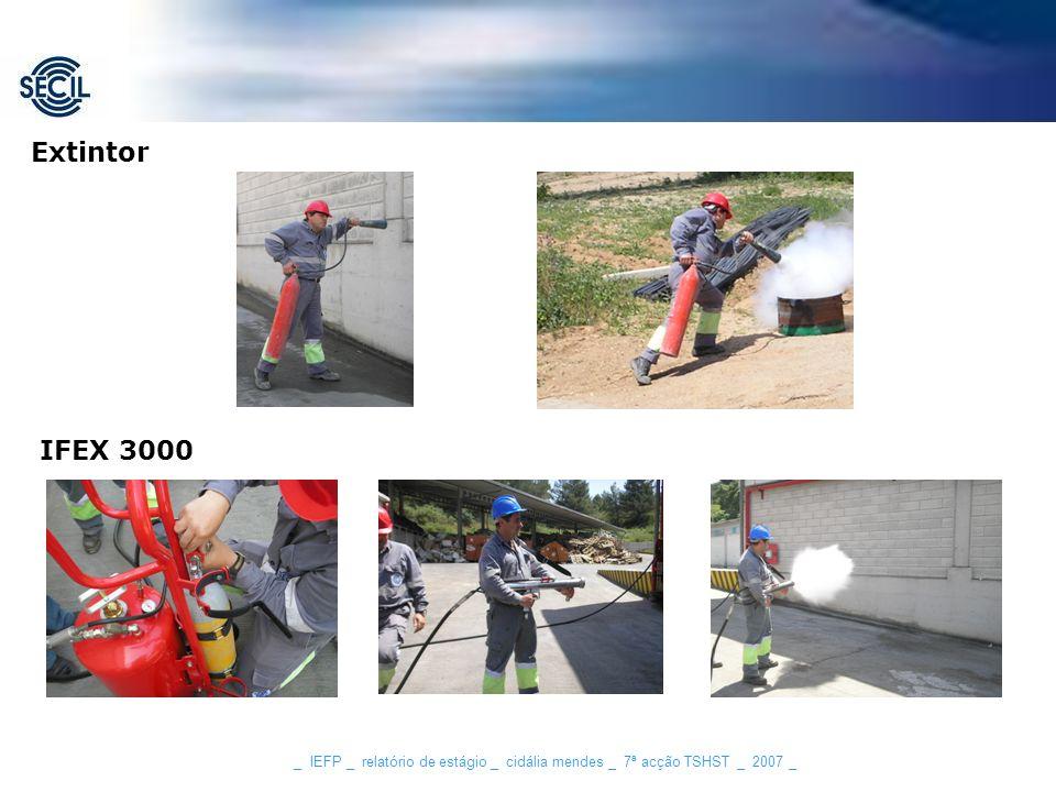 _ IEFP _ relatório de estágio _ cidália mendes _ 7ª acção TSHST _ 2007 _ Extintor IFEX 3000