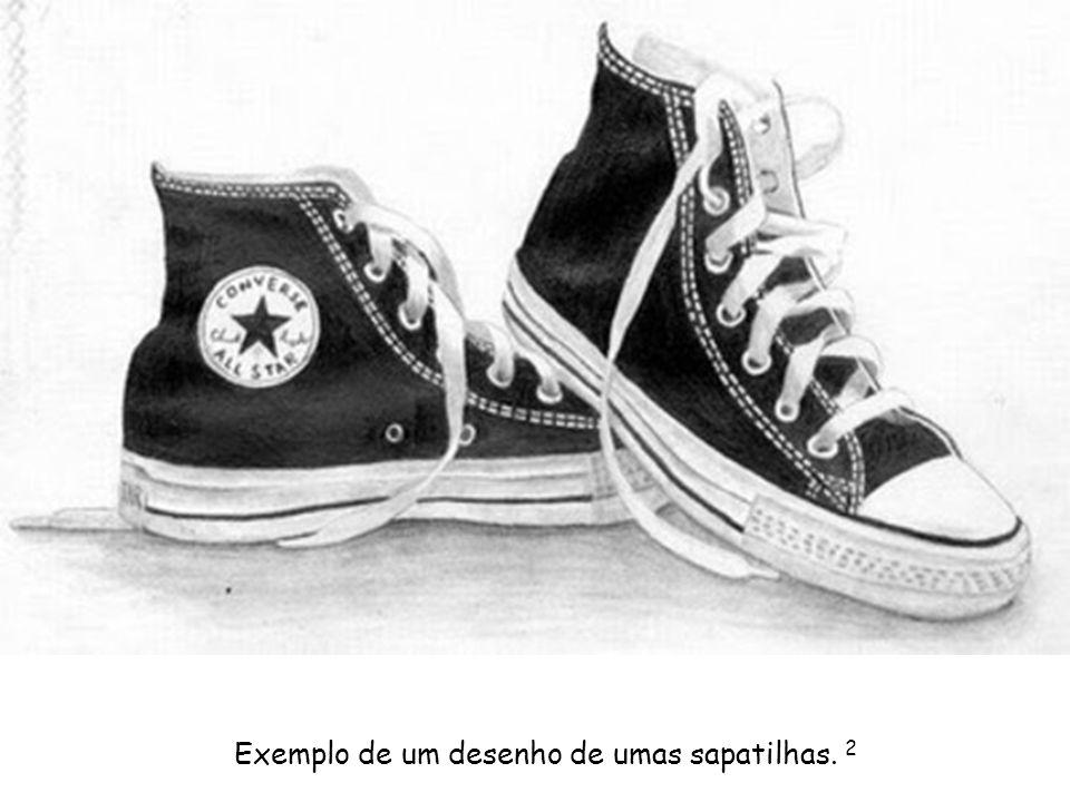 Exemplo de um desenho de umas sapatilhas. 2