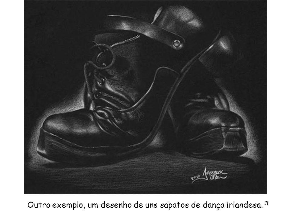 Outro exemplo, um desenho de uns sapatos de dança irlandesa. 3