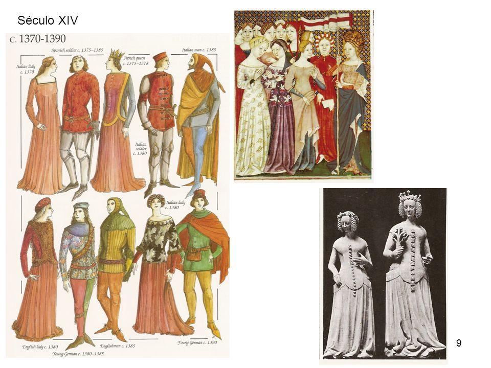 10 Século XIV No final do século XIII já havia surgido a crespine, um tipo de rede para os cabelos.