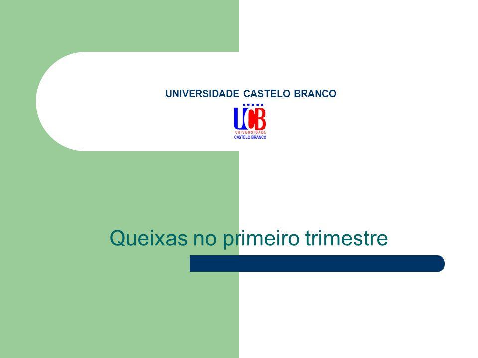 UNIVERSIDADE CASTELO BRANCO Queixas no primeiro trimestre