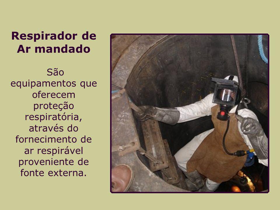 Respirador de Ar mandado São equipamentos que oferecem proteção respiratória, através do fornecimento de ar respirável proveniente de fonte externa.