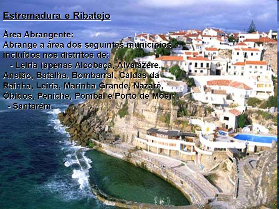 Área Abrangente: Abrange a área dos seguintes municípios incluídos nos distritos de: - Leiria (apenas Alcobaça, Alvaiázere, Ansião, Batalha, Bombarral
