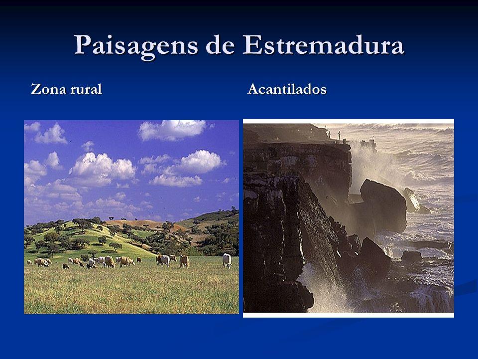Paisagens de Estremadura Zona rural Acantilados