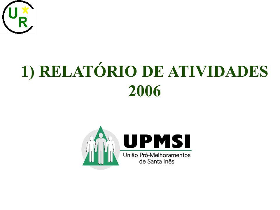 1) RELATÓRIO DE ATIVIDADES 2006