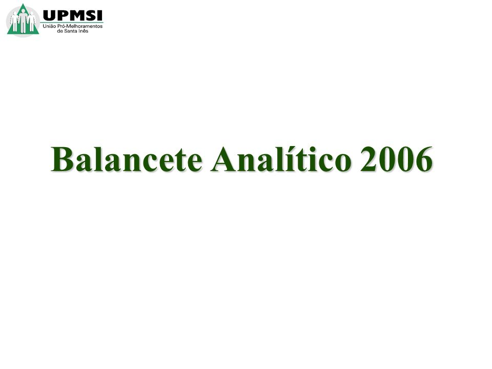 Balancete Analítico 2006