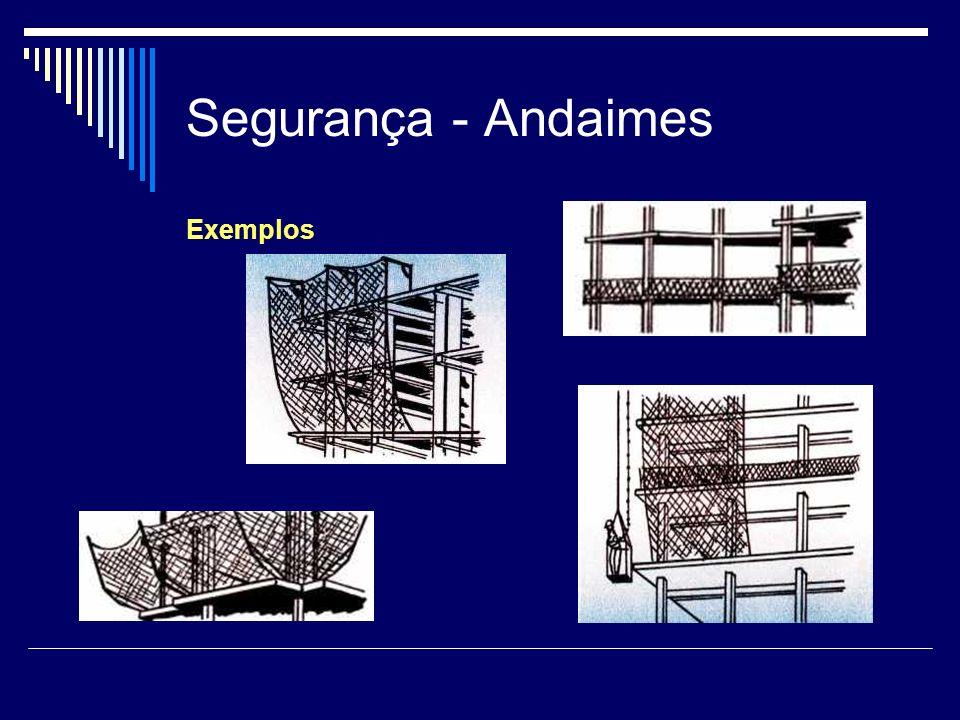 Segurança - Andaimes Exemplos