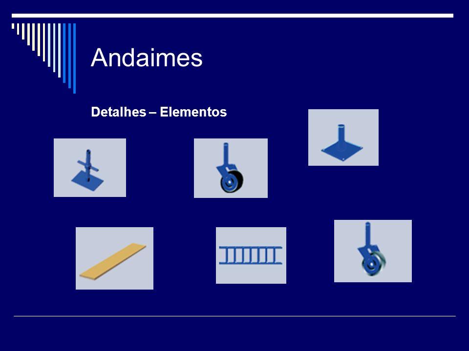 Andaimes Andaimes Modulares Tubulares: Características Equipamento que possui sistema leve de encaixe tornando sua montagem rápida e simples.