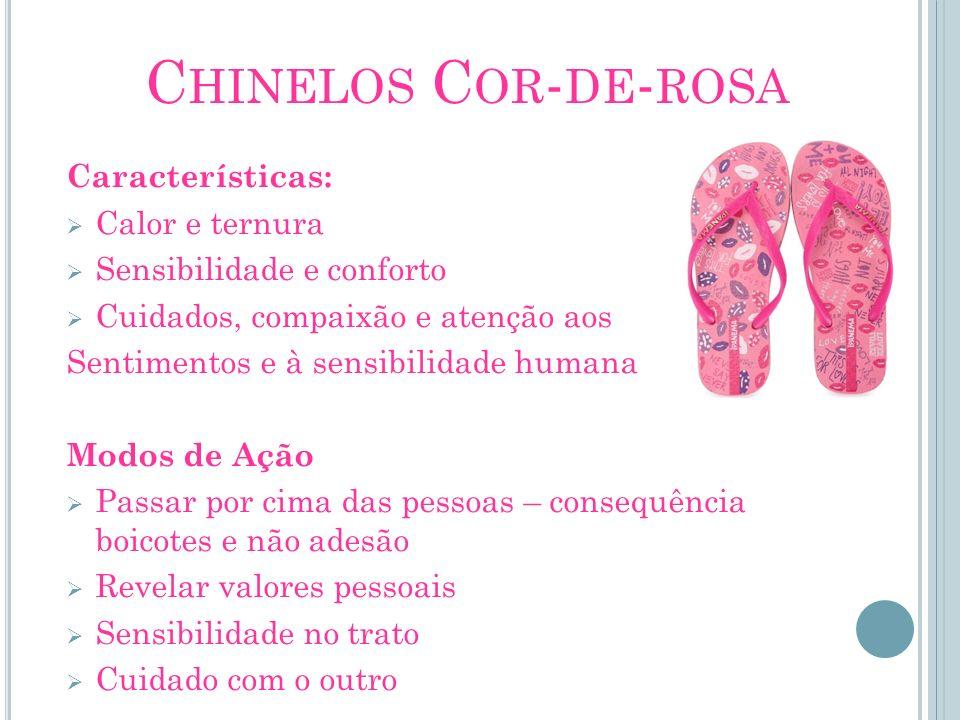 C HINELOS C OR - DE - ROSA Características: Calor e ternura Sensibilidade e conforto Cuidados, compaixão e atenção aos Sentimentos e à sensibilidade h