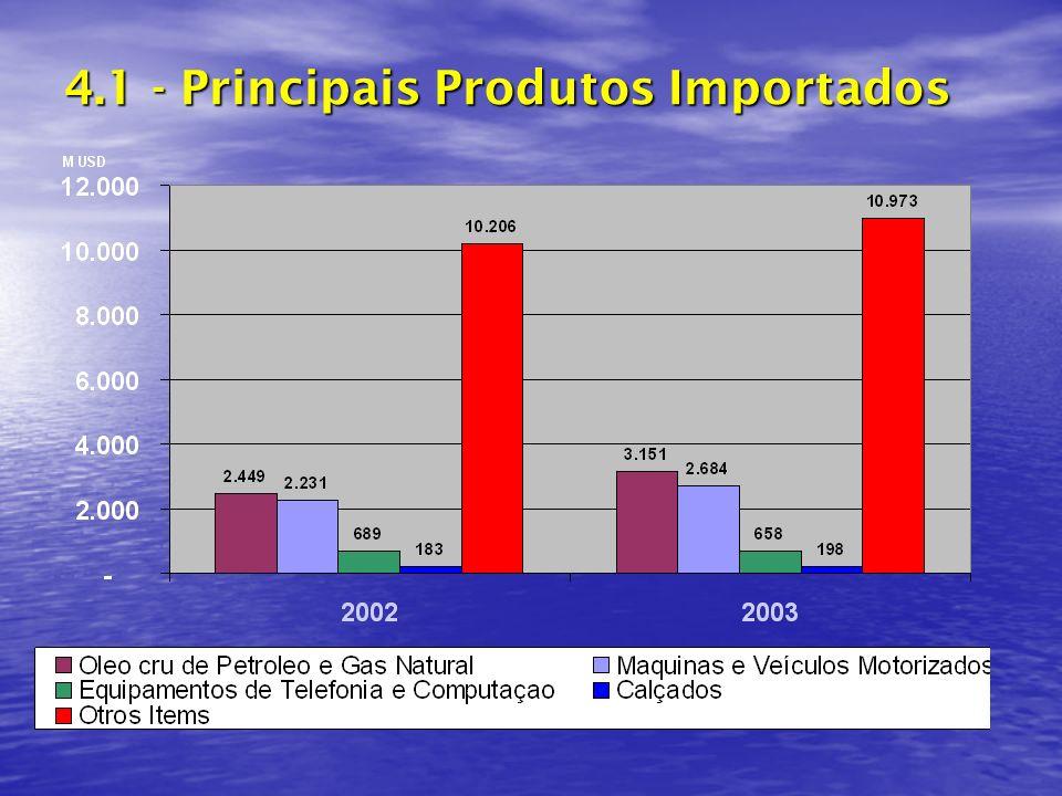 4.1 - Principais Produtos Importados