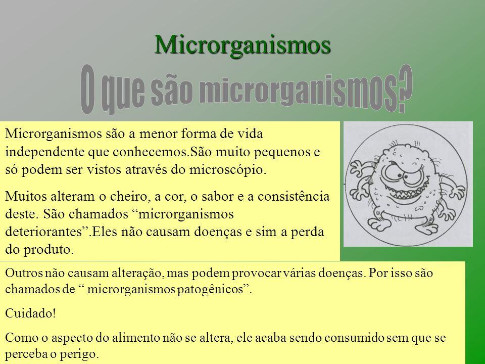 Microrganismos Microrganismos são a menor forma de vida independente que conhecemos.São muito pequenos e só podem ser vistos através do microscópio. M