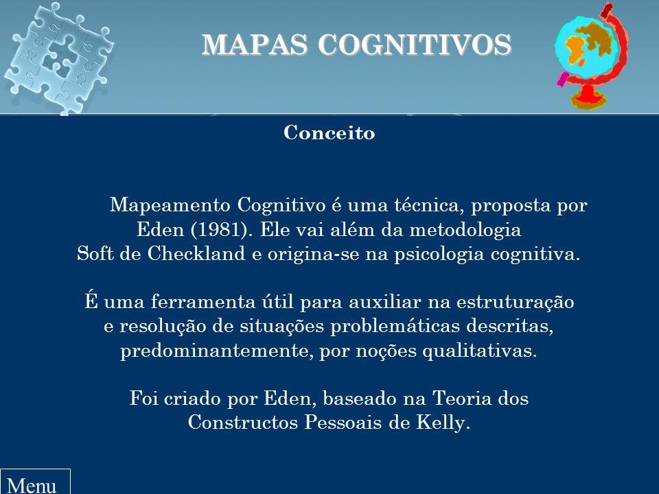 Conceito Mapeamento Cognitivo é uma técnica, proposta por Eden (1981).