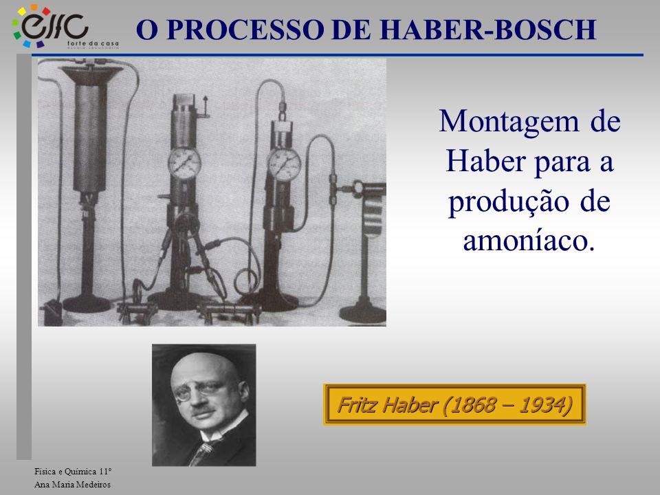 Montagem de Haber para a produção de amoníaco. O PROCESSO DE HABER-BOSCH Física e Química 11º Ana Maria Medeiros
