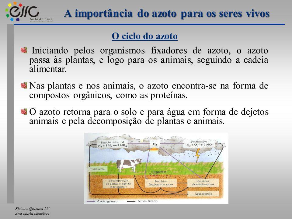 Física e Química 11º Ana Maria Medeiros As matérias primas para a produção do amoníaco Como se pode verificar todos estes materiais são de origem natural, ou seja, provêm da natureza.