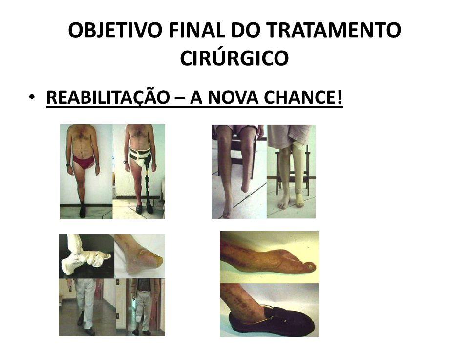 OBJETIVO FINAL DO TRATAMENTO CIRÚRGICO REABILITAÇÃO – A NOVA CHANCE!