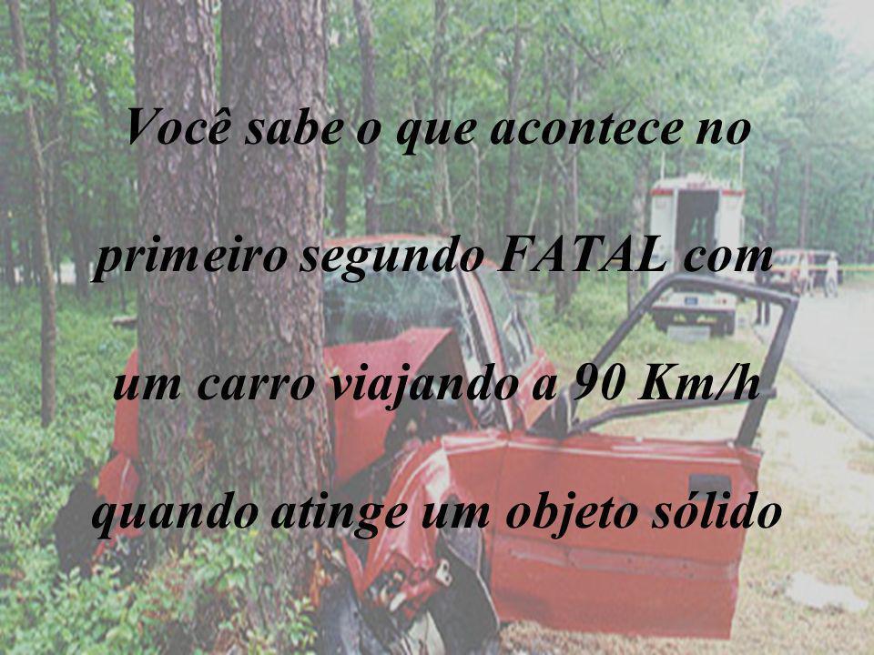Você sabe o que acontece no primeiro segundo FATAL com um carro viajando a 90 Km/h quando atinge um objeto sólido