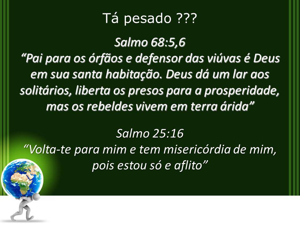 Salmo 68:5,6 Pai para os órfãos e defensor das viúvas é Deus em sua santa habitação.