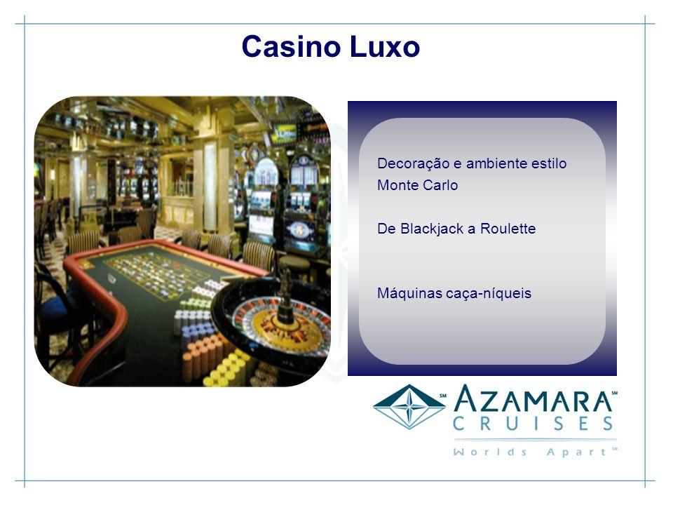 Casino Luxo Decoração e ambiente estilo Monte Carlo De Blackjack a Roulette Máquinas caça-níqueis