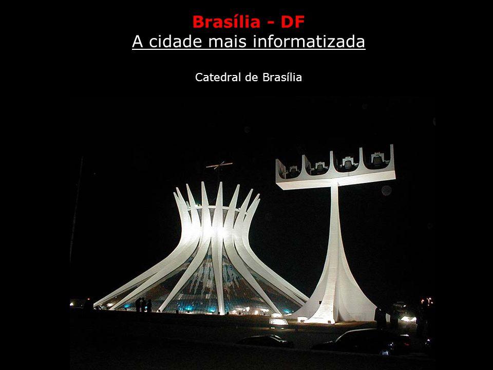 Tecnologia A cidade mais informatizada Brasília - DF Fica na capital federal o maior porcentual de domicílios com acesso a aparelhos de tecnologia de
