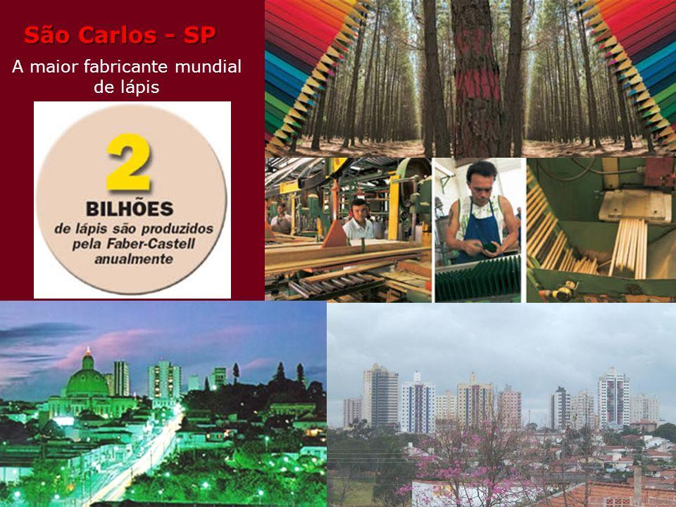 São Carlos A maior fabricante mundial de lápis No país que mais fabrica lápis, São Carlos, na região central do estado de São Paulo, se destaca: a cid