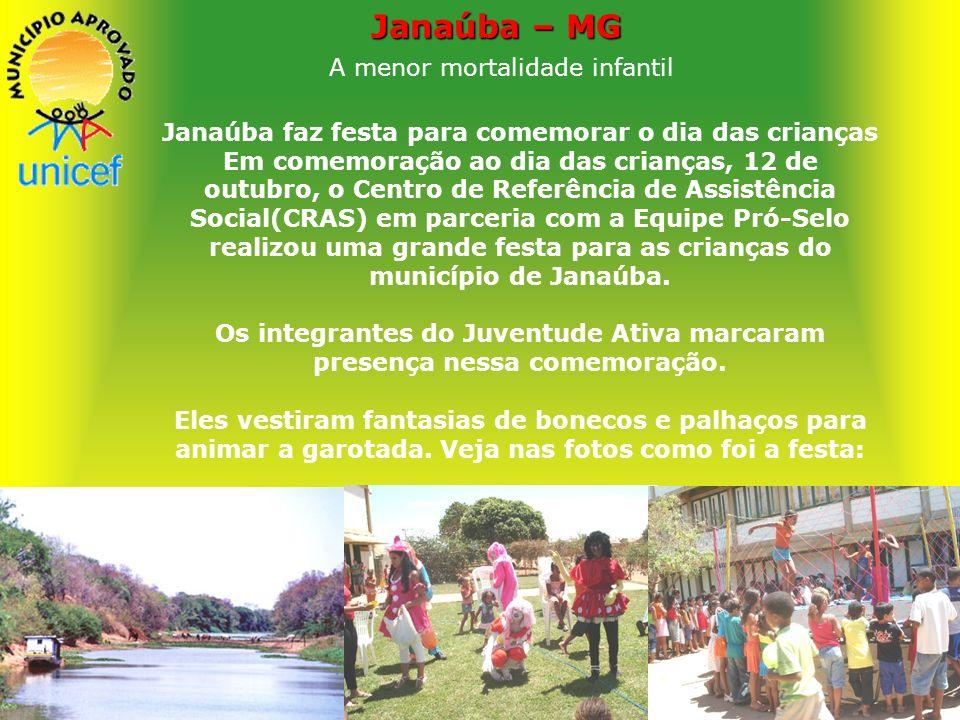 Janaúba Saúde A menor mortalidade infantil Janaúba está situada em uma das regiões mais pobres de Minas Gerais, mas registra apenas 4,1 óbitos por cad