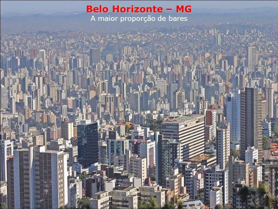 Belo Horizonte Estilo de vida A maior proporção de bares Belo Horizonte reivindica há anos o título de capital nacional dos barzinhos. Com 10 000 esta