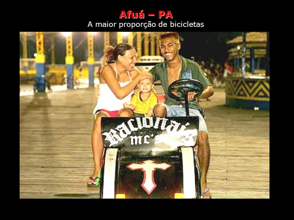 Afuá, Estilo de vida A maior proporção de bicicletas Só há duas maneiras de se locomover em Afuá, no Pará: a pé ou de bicicleta. A cidade, que se inti