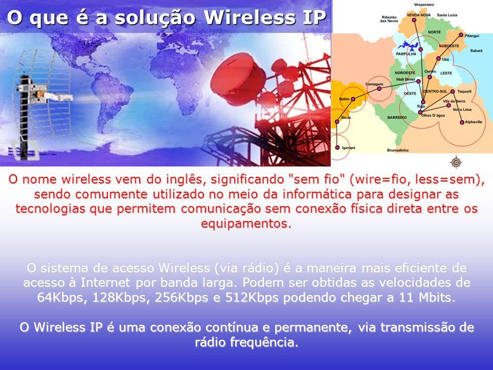 O nome wireless vem do inglês, significando sem fio (wire=fio, less=sem), sendo comumente utilizado no meio da informática para designar as tecnologias que permitem comunicação sem conexão física direta entre os equipamentos.