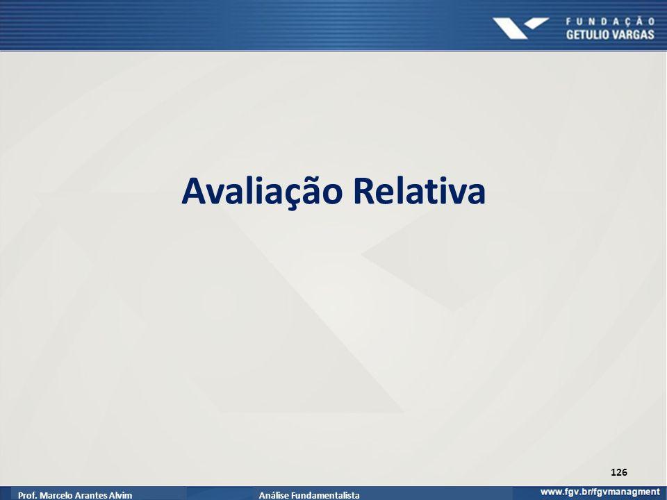 Prof. Marcelo Arantes AlvimAnálise Fundamentalista Avaliação Relativa 126
