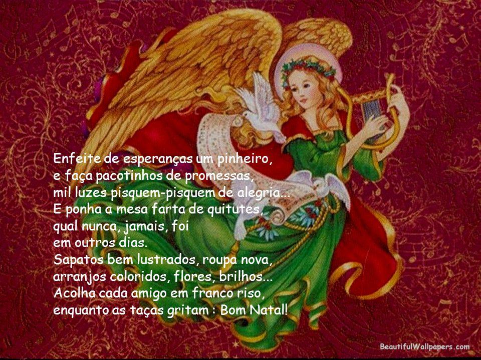 Mas que o brindar ao meigo Deus menino, ecoe em todo agreste nordestino, no chão sofrido, aflito, ressecado...