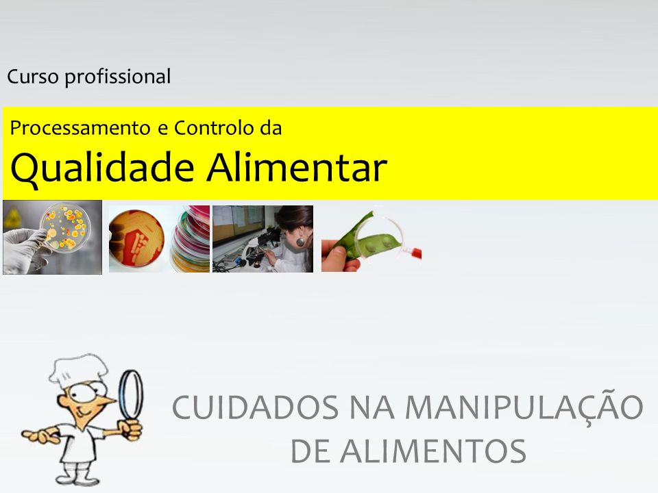 Processamento e Controlo da Qualidade Alimentar CUIDADOS NA MANIPULAÇÃO DE ALIMENTOS Curso profissional