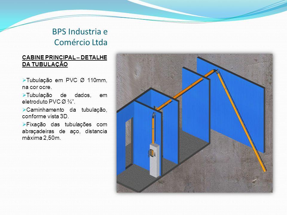 BPS Industria e Comércio Ltda CABINE PRINCIPAL – DETALHE DA TUBULAÇÃO Tubulação em PVC Ø 110mm, na cor ocre.