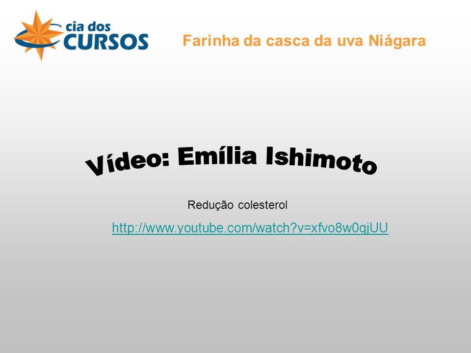 Farinha da casca da uva Niágara Redução colesterol http://www.youtube.com/watch?v=xfvo8w0qjUU